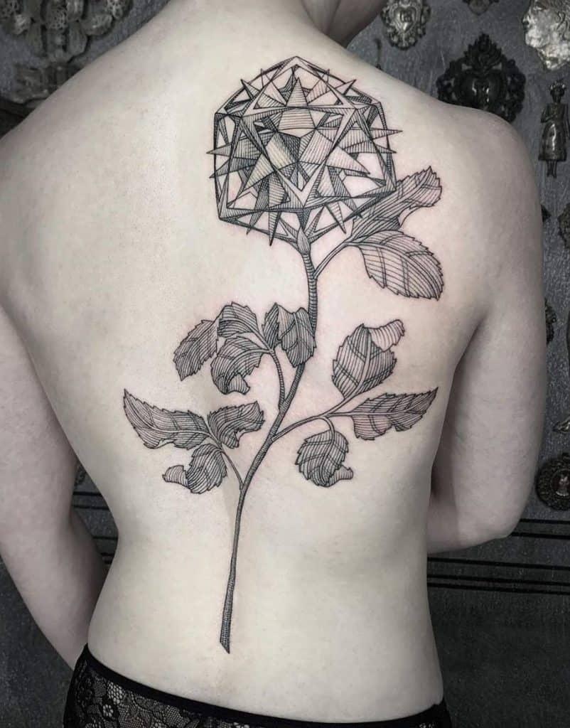 Etching Rose Tattoo