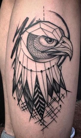 Graphic Eagle Tattoo