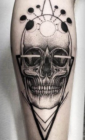 Graphic Skull Tattoo
