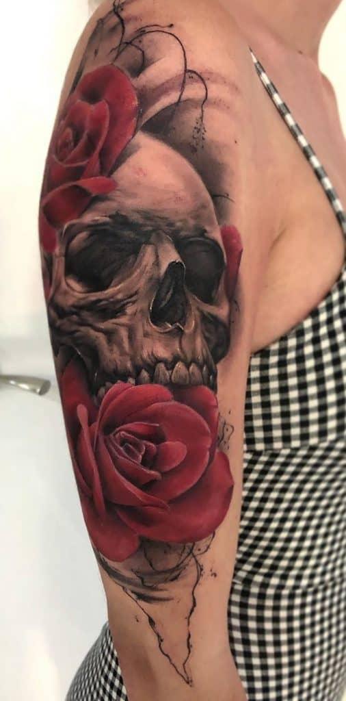 Horror Rose Tattoo