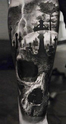 Horror Skull Tattoo