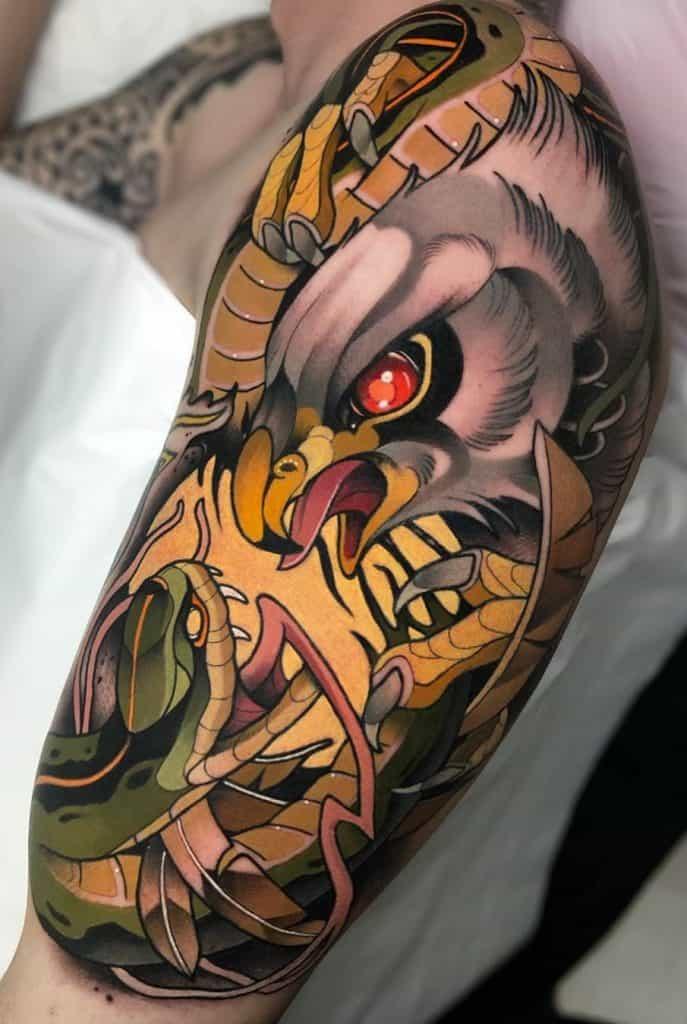Illustrative Eagle Tattoo