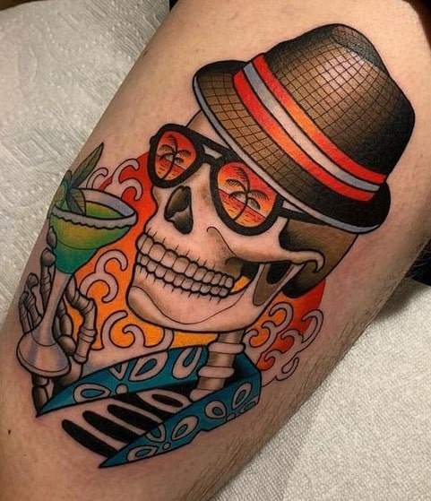 Illustrative Skull Tattoo