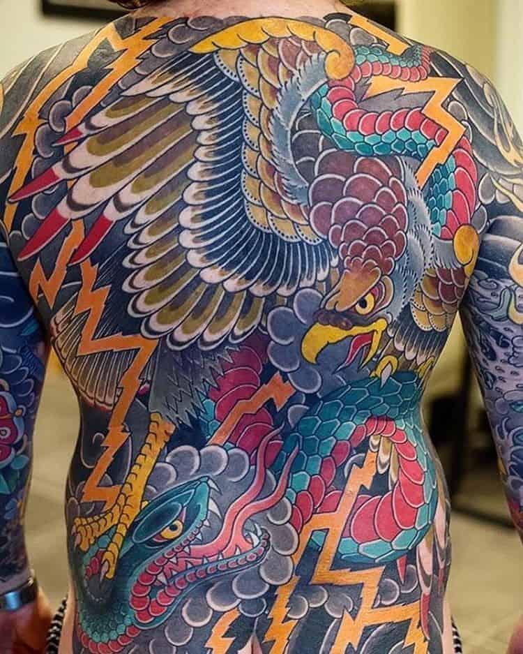 Japanese Eagle Tattoo