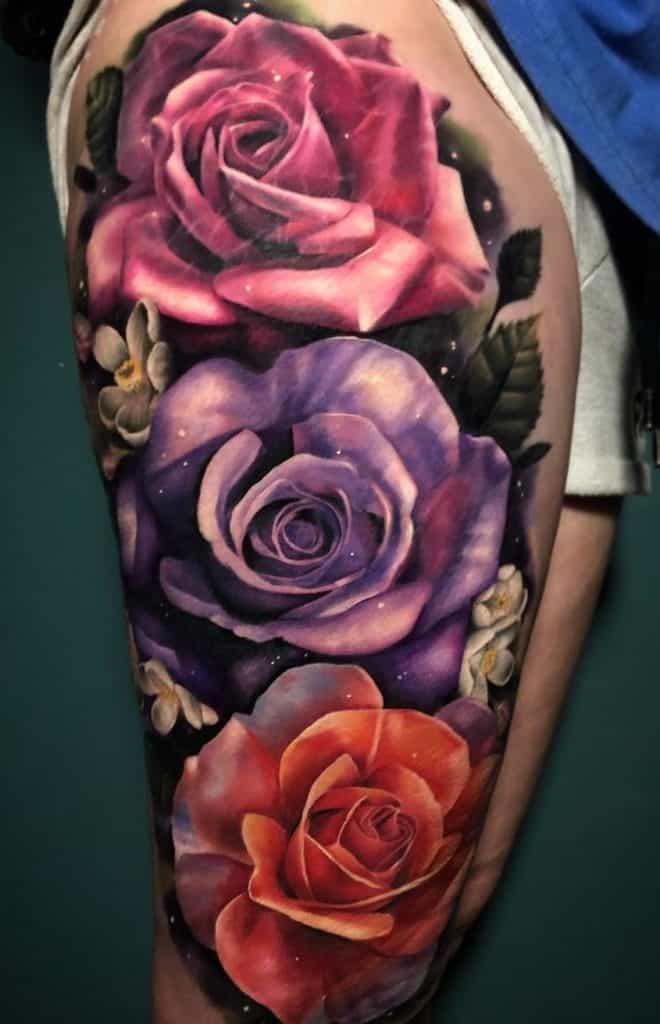 Large Rose Tattoo