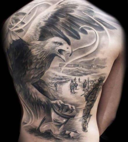 Large-scale Eagle Tattoo
