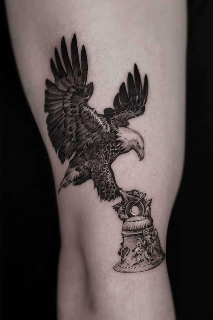 Micro-realist Eagle Tattoo