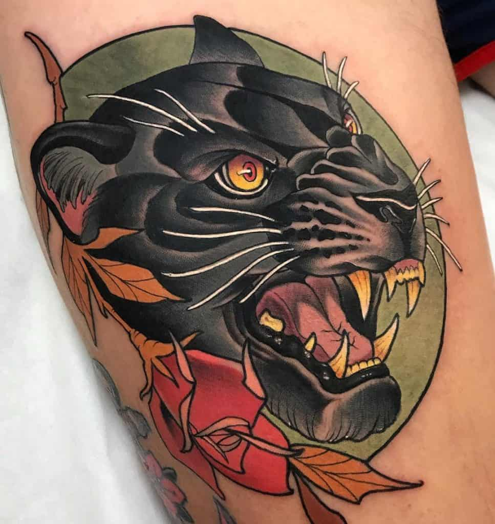 Neo-traditional Animal Tattoo