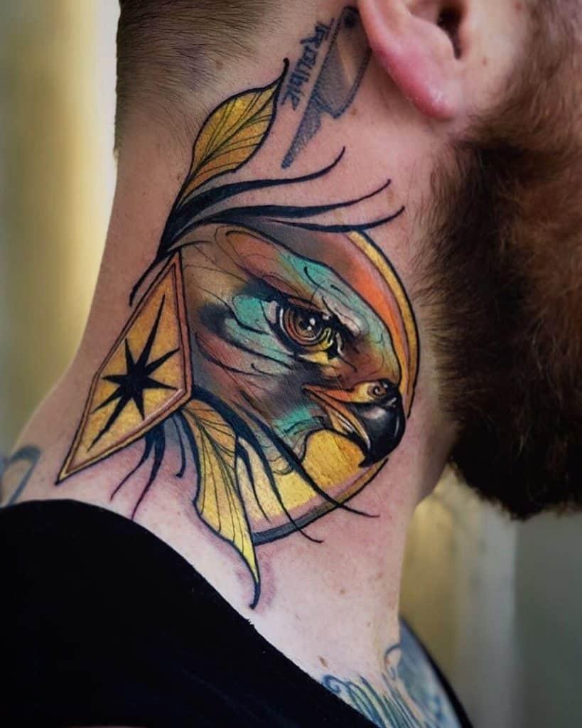 Neo-traditional Eagle Tattoo