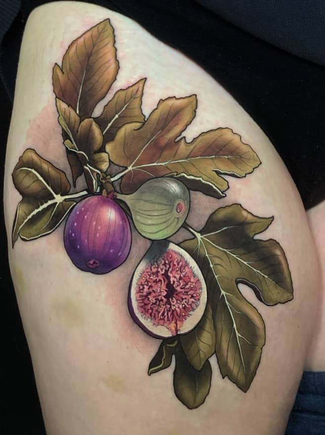 Neo-traditional Fruit Tattoo