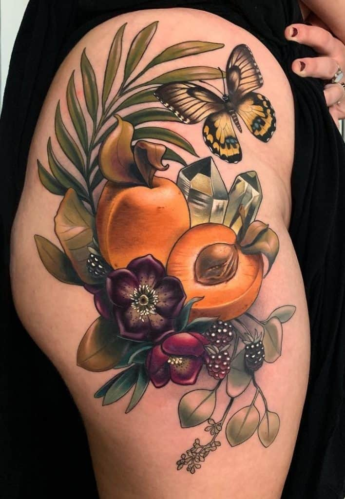 Neo-traditional Hip Tattoo