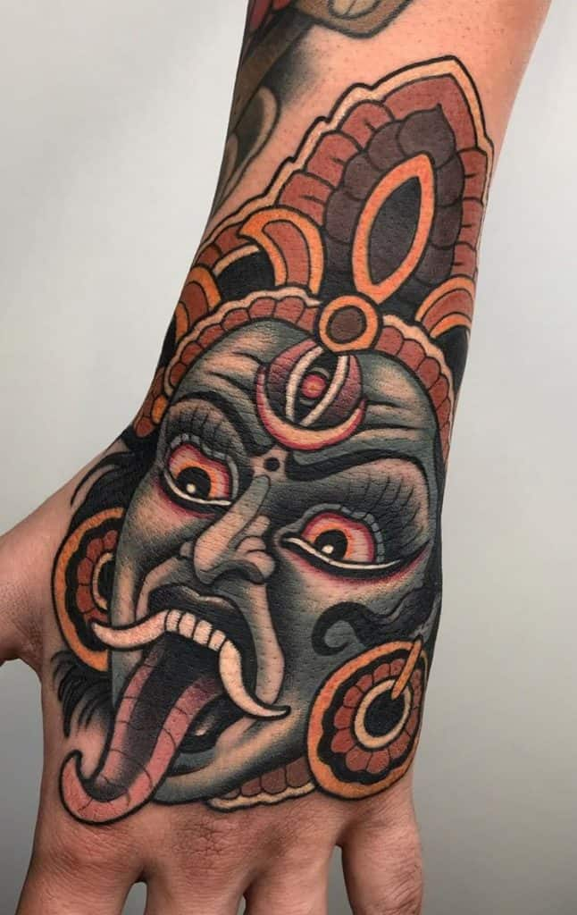 Neo-traditional Kali Tattoo