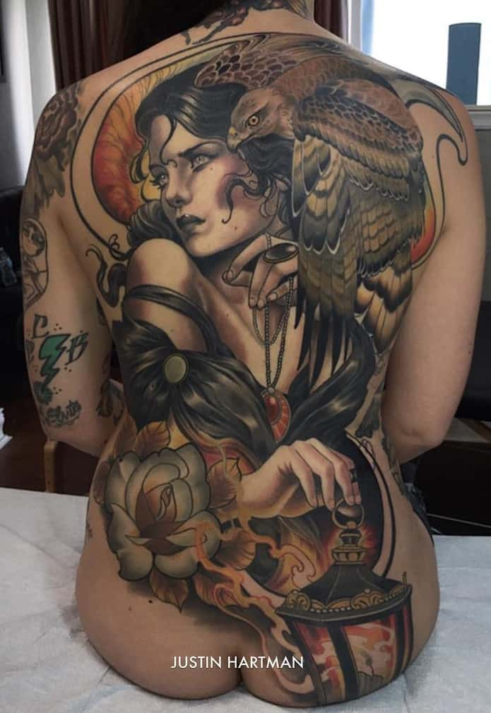 Neo-traditional Large Tattoo