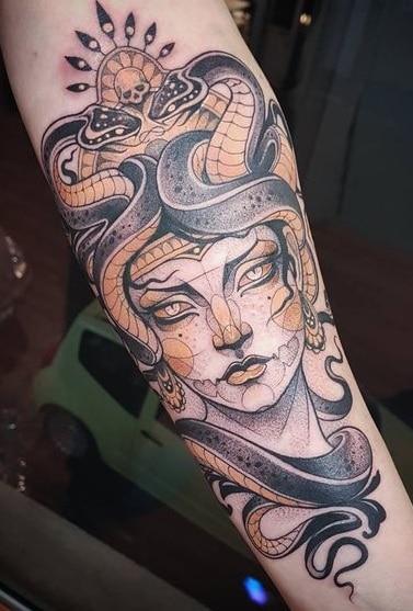Neo-traditional Medusa Tattoo
