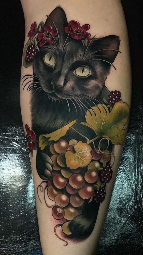 Neo-traditional Pet Tattoo