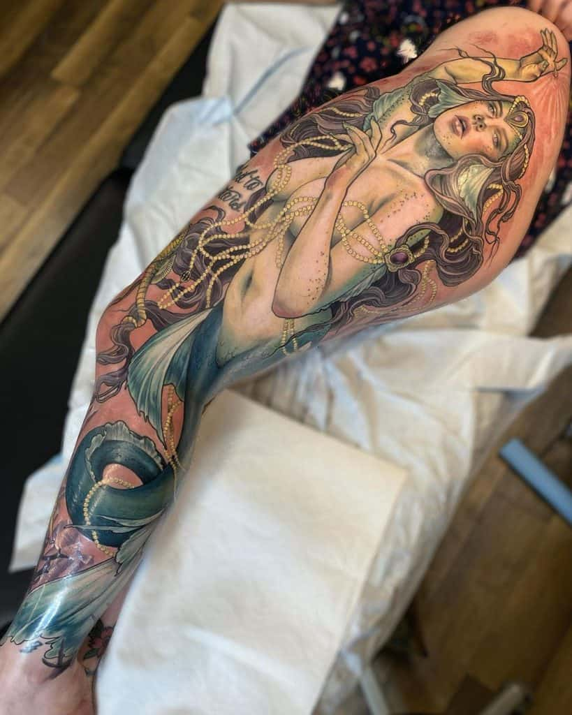 Neo-traditional Sleeve Tattoo