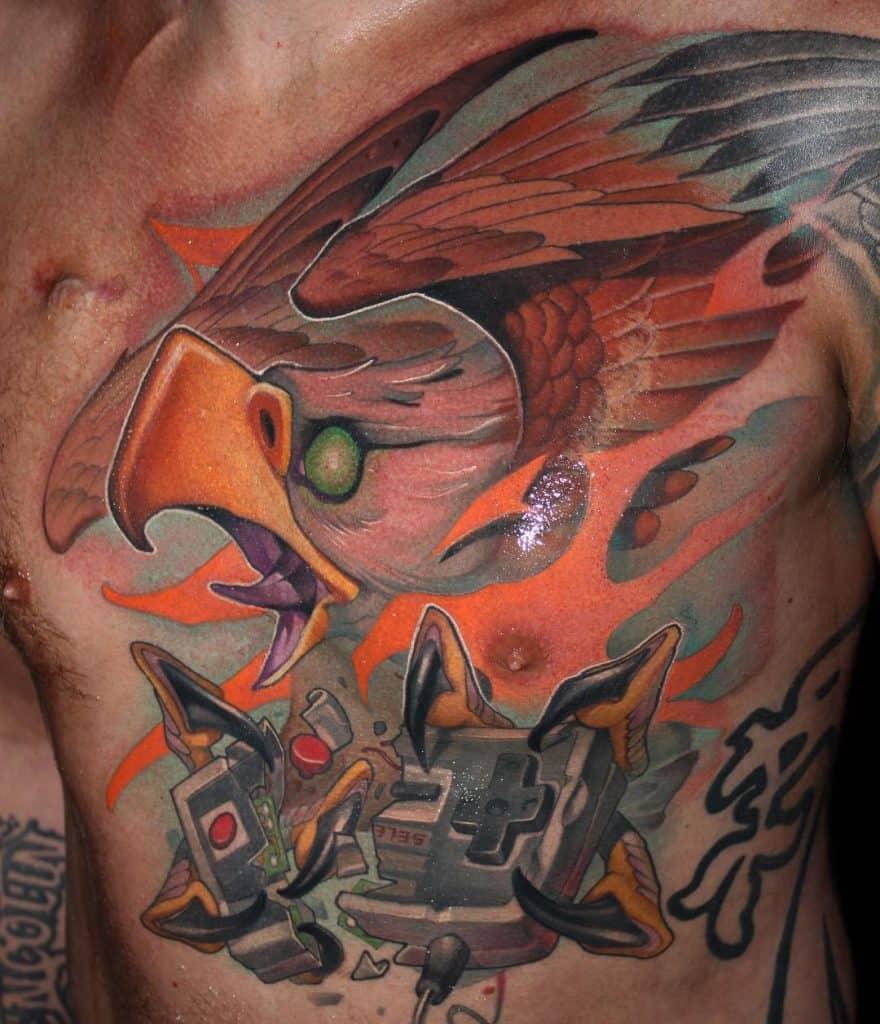 New School Eagle Tattoo