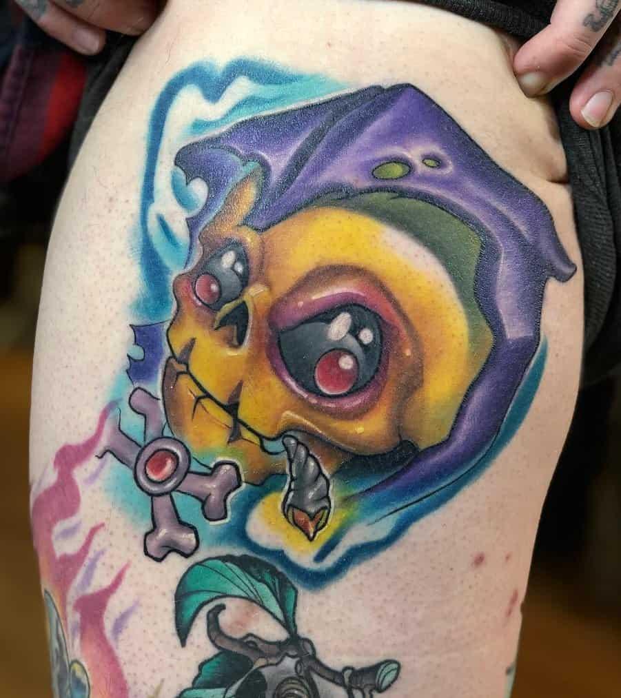 New School Skull Tattoo