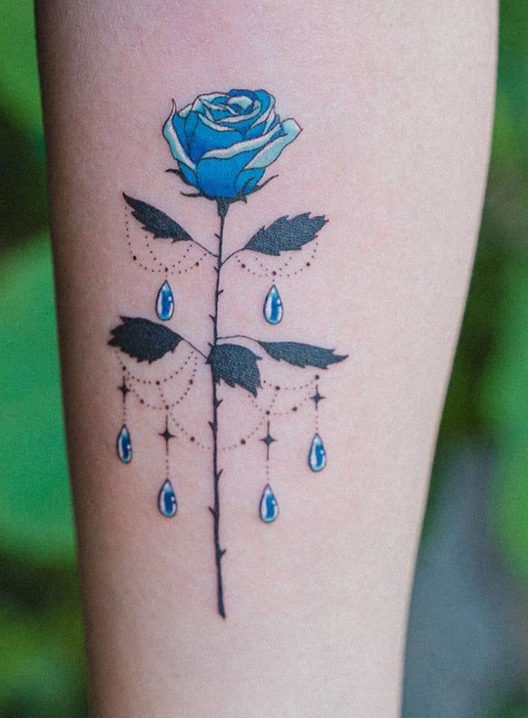 Ornamental Rose Tattoo