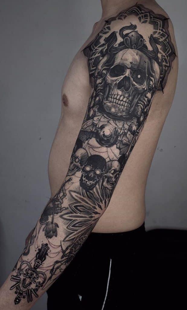 Ornamental Skull Tattoo