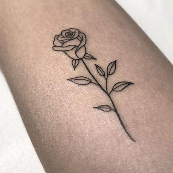 Simple Rose Tattoo