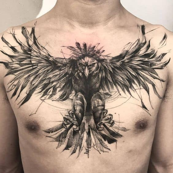 Sketchy Eagle Tattoo