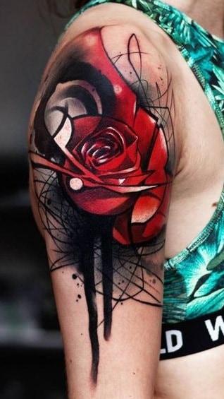 Sketchy Rose Tattoo