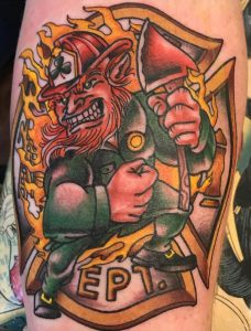Angry Leprechaun Tattoo