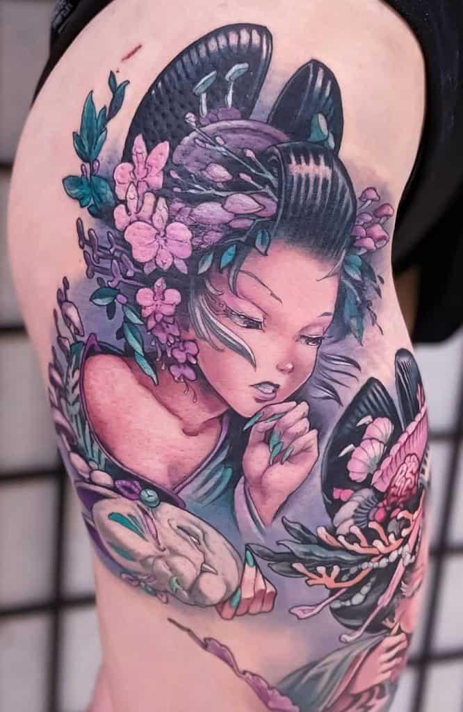 Anime Geisha Tattoo
