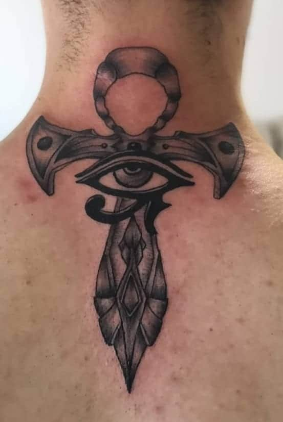 Ankh Tattoo with Eye of Horus