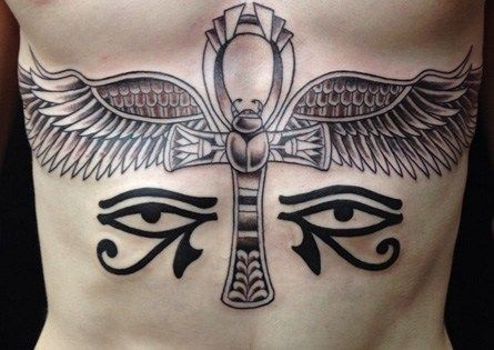 Ankh Tattoo with Wings