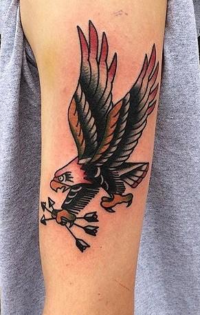 Arrow and Eagle Tattoo