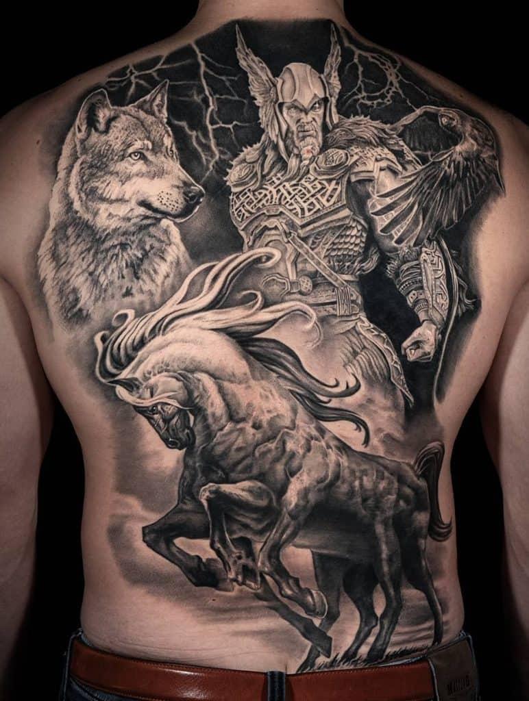 Back-piece Odin Tattoo
