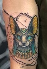 Bastet Sketch Tattoo