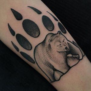 Bear Claw Tattoo