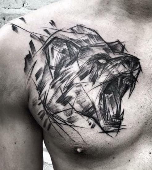 Bear Sketch Tattoo