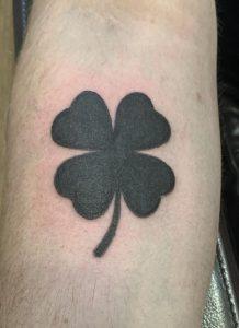 Black Shamrock Tattoo