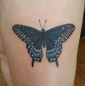 Black Swallowtail Butterfly Tattoo