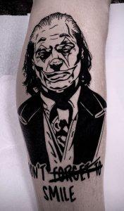 Black-work Joker Tattoo