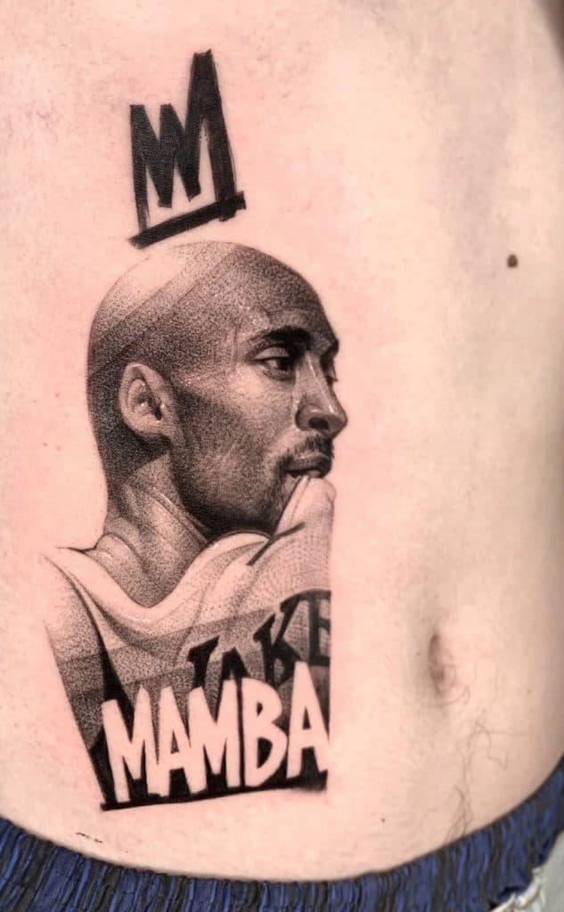 Black-work Kobe Bryant Tattoo