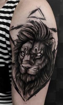 Black-work Sketch Tattoo
