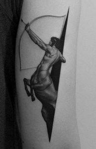 Blackwork Centaur Tattoo