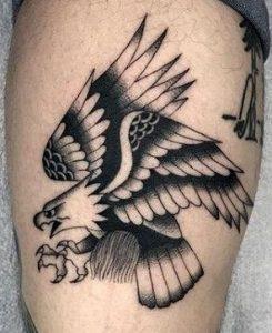 Blackwork Eagle Tattoo