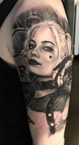 Black-work Harley Quinn Tattoo