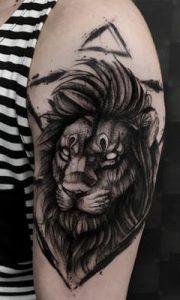 Blackwork Lion Tattoo