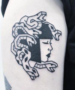 Blackwork Medusa Tattoo