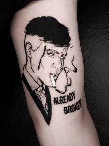 Black-work Peaky Blinders Tattoo