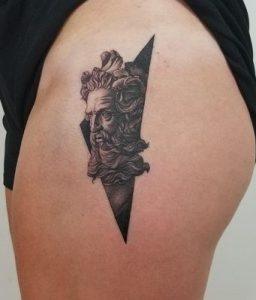 Blackwork Poseidon Tattoo