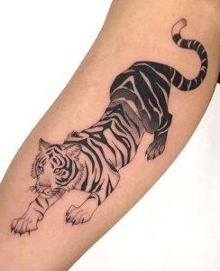 Blackwork Tiger Tattoo