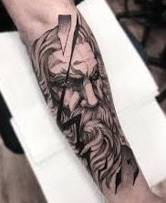 Blackwork Zeus Tattoo